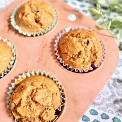 Carrot and zucchini muffins gluten free