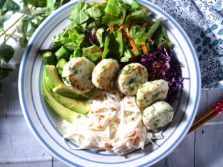 vietnamese asian chicken ball plate