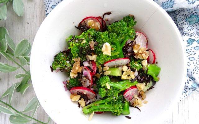 Broccoli and radish salad with Shio-koji mustard dressing