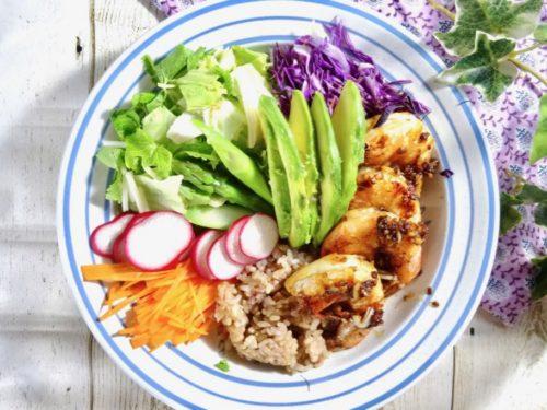 Japan inspired Hawaiian garlic shrimp