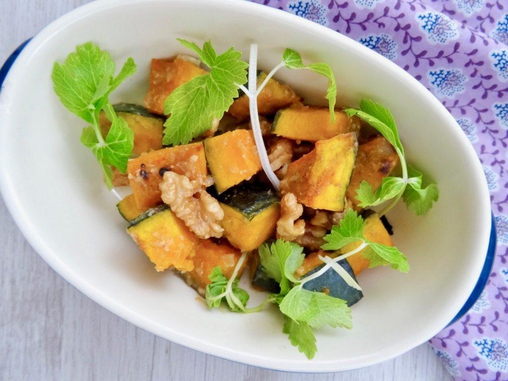 sweet and salty miso-glazed walnut pumpkin
