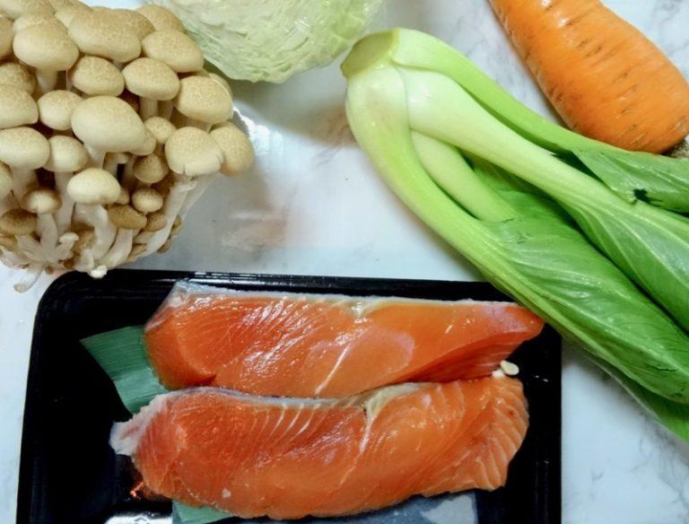 Miso salmonpotpie ingredients