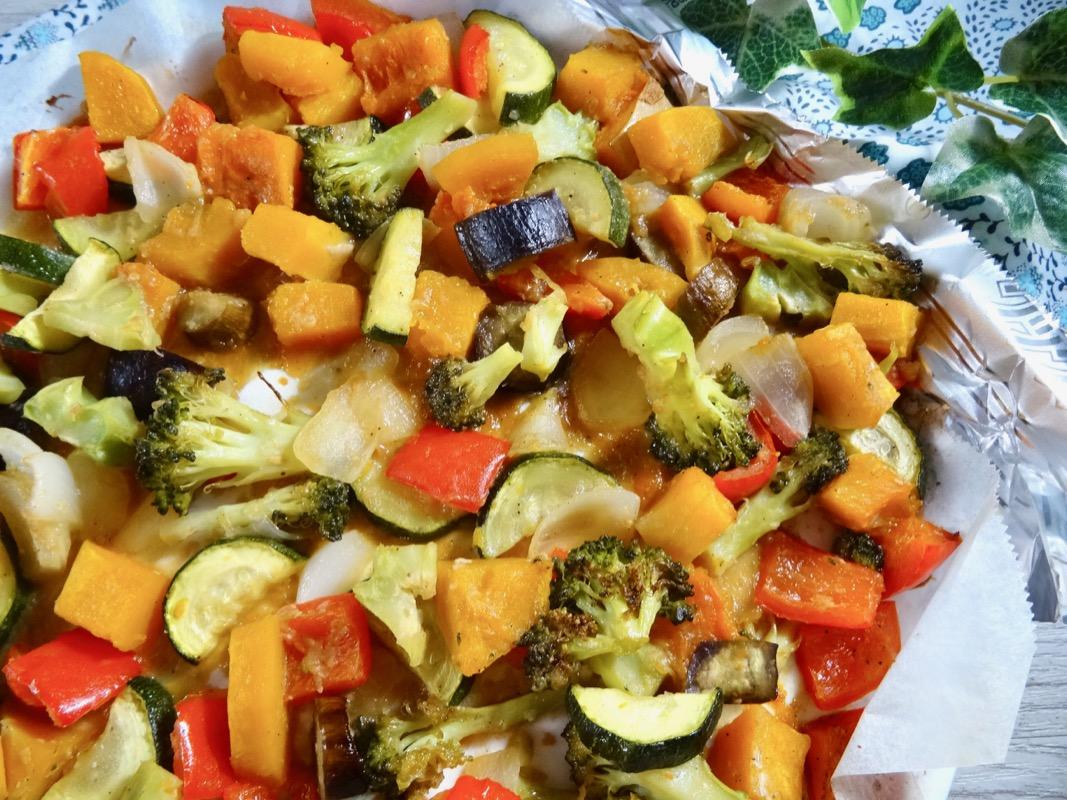 お味噌風味のオーブン焼き野菜