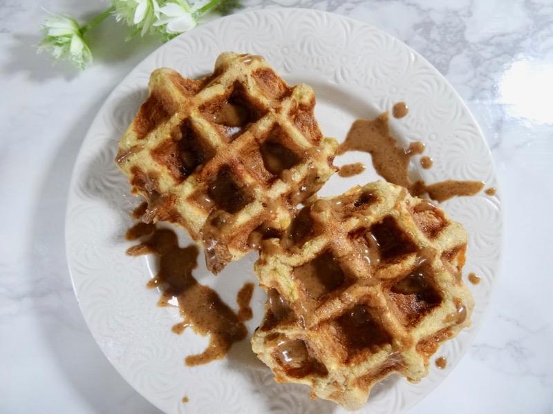 coconut flour carrot cake waffle