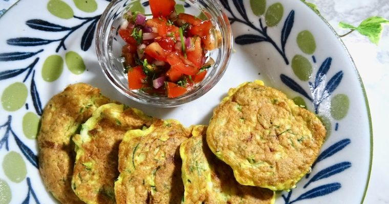 Zucchini omelette bites with coconut flour