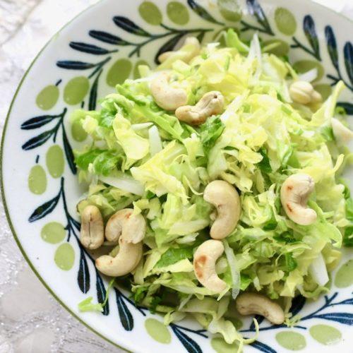 春キャベツとカシューナッツのサラダ 塩麹ドレッシング