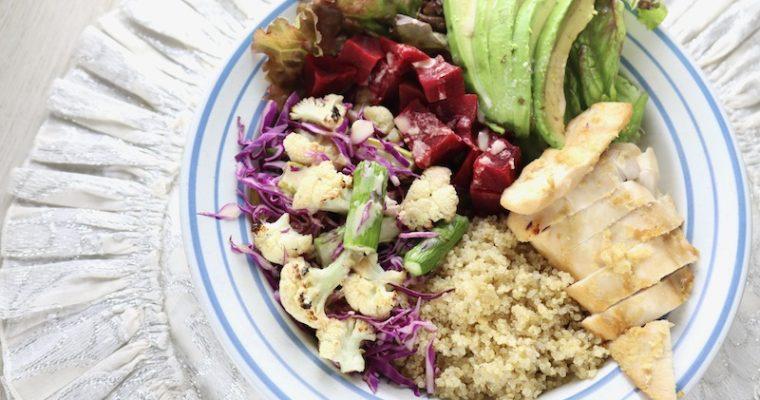 紫キャベツとカリフラワーのサラダ
