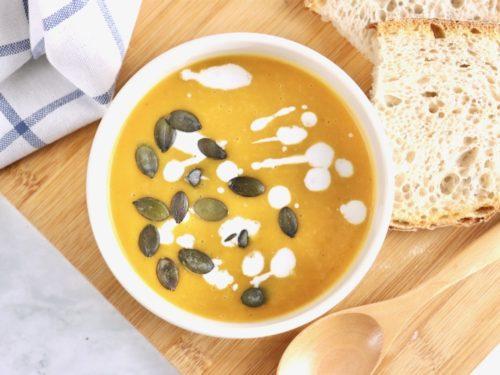 バターナッツかぼちゃのスープ 出来上がりの画像