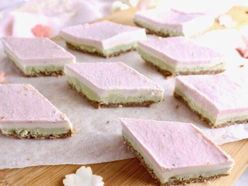 【ホルモンバランス対策にも】ひな祭りに♪ 3色のローチーズケーキ