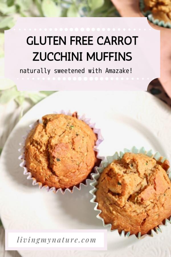 Carrot zuccnihi muffins gluten free