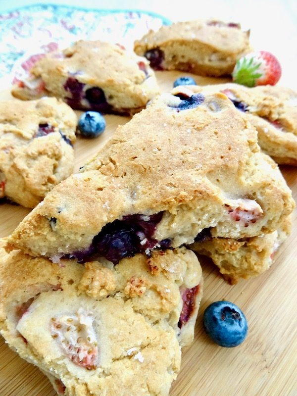 gluten free blueberry scone