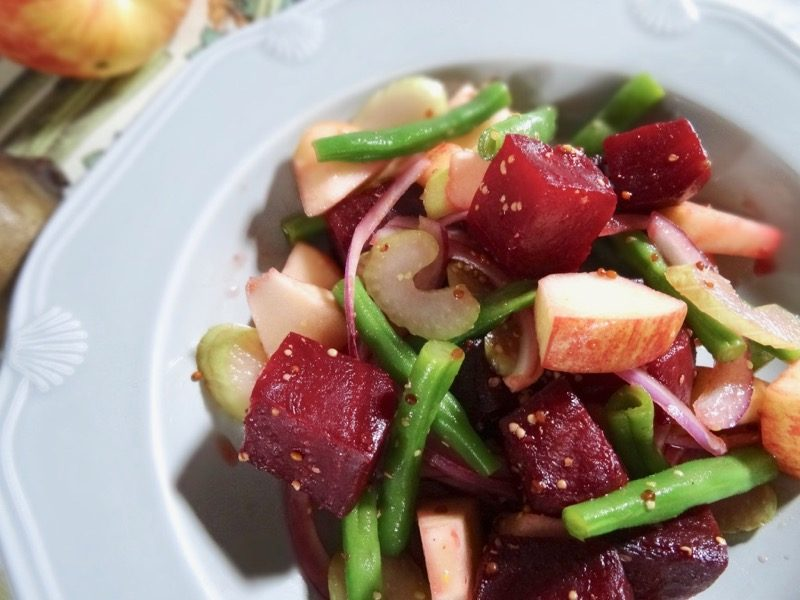 Roasted beetroot and apple salad
