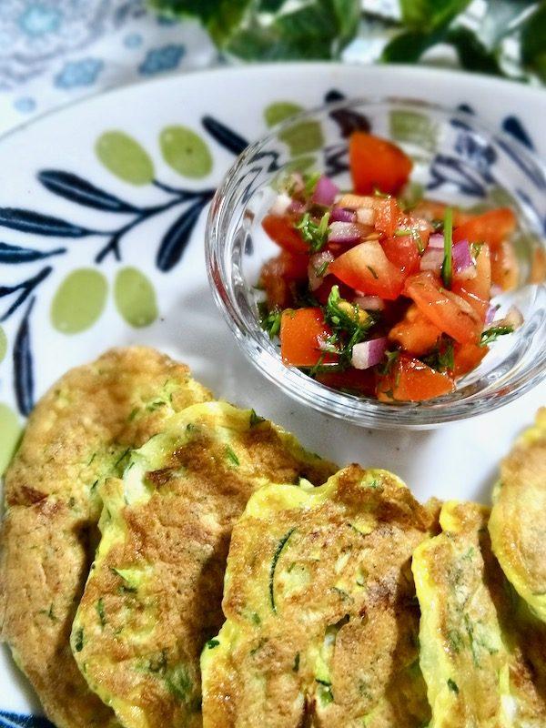 Zucchini omelette bites